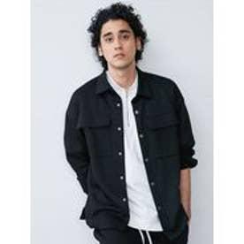 カットシャツジャケット(ブラック)
