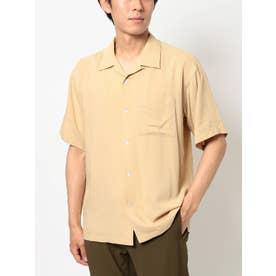 スプリットラグラン半袖オープンカラーシャツ(ベージュ)
