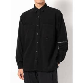 袖ZIPシャツ(ブラック)
