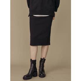 サイドラインタイトスカート(ブラック)
