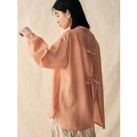 バックリボンシアーシャツ(ライトオレンジ)
