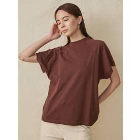 フレンチスリーブTシャツ(ブラウン)