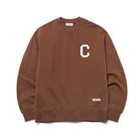 C LOGO CREWNECK (BROWN)