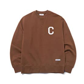 C LOGO CREWNECK (BROWN)