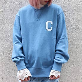 C LOGO CREWNECK (BLUE)