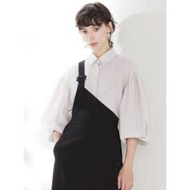 裾絞りシャツ (ライトグレー)
