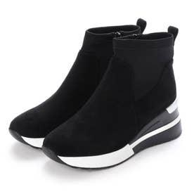スニーカータイプショートブーツ (ブラック)