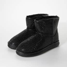 ボア付き デコレーション ブーツ (ブラック)
