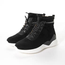 厚底 レースアップ ブーツ (ブラック)