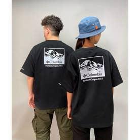 columbia/ ビッグシルエット  バックプリントTシャツ   PM0270 (ブラック)