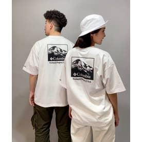 columbia/ ビッグシルエット  バックプリントTシャツ   PM0270 (ホワイト)