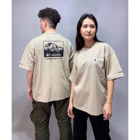 columbia/ ビッグシルエット  バックプリントTシャツ   PM0270 (ベージュ)