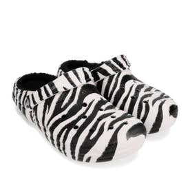 classic lined animal print clog (ZEBRA)
