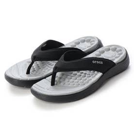 レディース マリン ビーチサンダル Crocs Reviva Flip W Blk/Blk 205473-060
