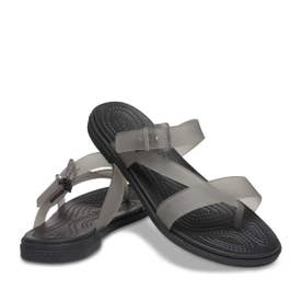 Crocs Tulum Translucent Toe Post W (BLACK)