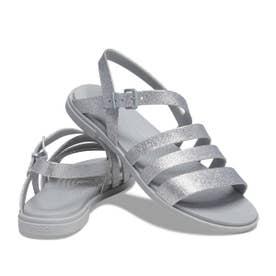 Crocs Tulum Glitter Sandal W (SILVER)