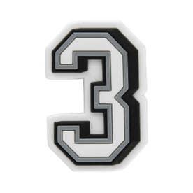 Jibbitz B&W Number 3 (MULTI)