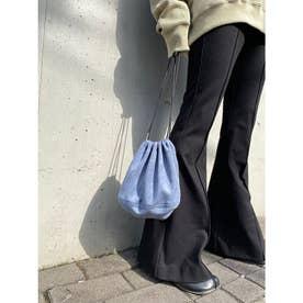 フェイクスウェード巾着BAG (BLUE)