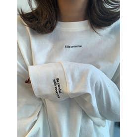刺繍ロゴL/S Tee (WHITE)