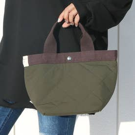 被せポケット付きミニトートバッグ (Pカーキ)