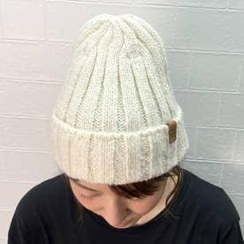リブニット帽 (アイボリー)