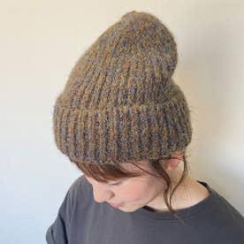 ミックスニット帽 (ブラウン)