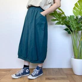 裾リブバルーンスカート (ブル-グリーン)