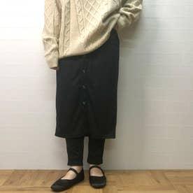 ナローレイヤードスカート (クロ)