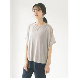 シアーTシャツ+タンクトップセット (グレーベージュ)
