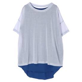 シアーTシャツ+タンクトップセット (ライトブルー)