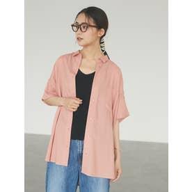 ドロップショルダーBIGシャツ (ピンク)