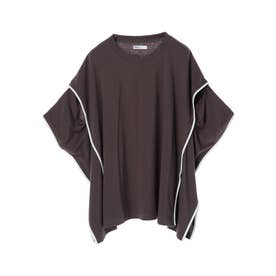 アームスリットポンチョTシャツ (モカ)