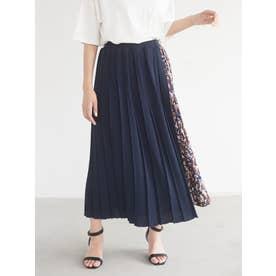 ミックスデザインスカート (ネイビー)