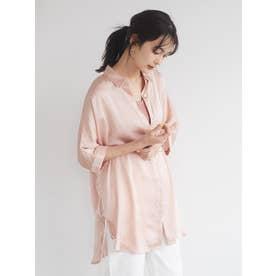 サイドリボンドルマンロングシャツ (ピンク)