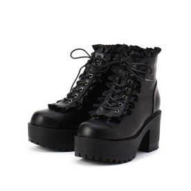フリルブーツ (ブラック)
