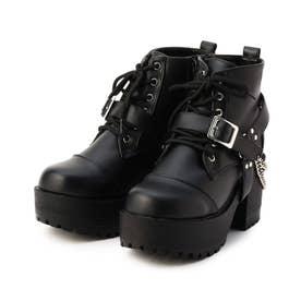 チェーンベルト付きブーツ (ブラック)