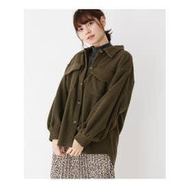コーデュロイビッグシャツジャケット (カーキ(027))