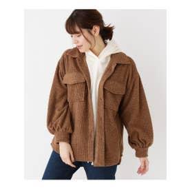 コーデュロイビッグシャツジャケット (キャメル(041))