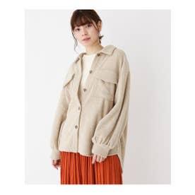 コーデュロイビッグシャツジャケット (ベージュ(052))