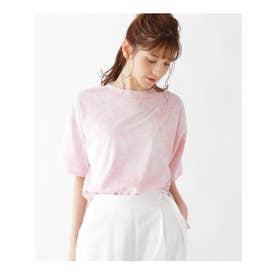 【M-L】タイダイ柄Tシャツ (ベビーピンク)