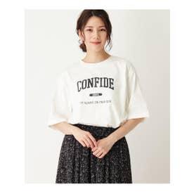 【S-L】ビッグロゴTシャツ (オフホワイト(003))