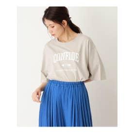 【S-L】ビッグロゴTシャツ (ナチュラル(050))