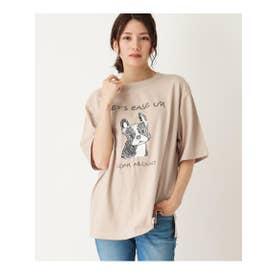 【WEB限定/S-L】フレンチブルプリントTシャツ (ベージュ(052))