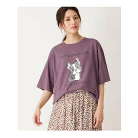 【WEB限定/S-L】フレンチブルプリントTシャツ (パープル(083))