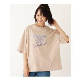 【S-L】ネオンロゴTシャツ (ベージュ(052))