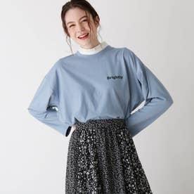 【S-L】フリル衿付きTシャツ (ブルー)