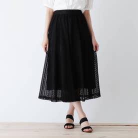 【S-L】レーススカート (ブラック)