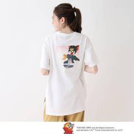 【S-L】トムとジェリー BIGTシャツ (オフホワイト)