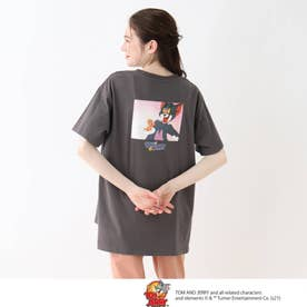 【S-L】トムとジェリー BIGTシャツ (チャコールグレー)