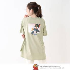 【S-L】トムとジェリー BIGTシャツ (ライトグリーン)